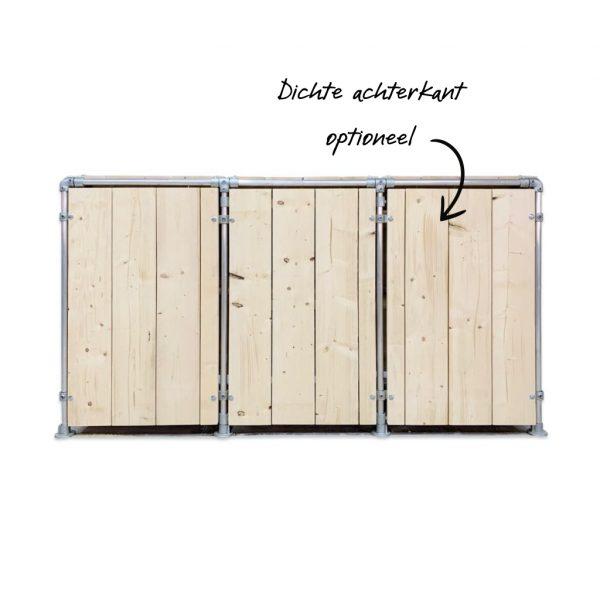kliko ombouw steigerhout met achterkant