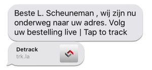 Tap to Track systeem bericht