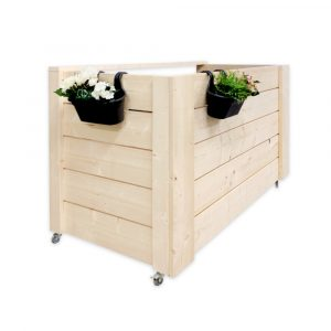 kliko ombouw hout 3 containers